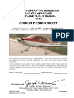 PILOT'S OPERATING HANDBOOK AND FAA APPROVED AIRPLANE FLIGHT MANUAL for the CIRRUS DESIGN SR22T