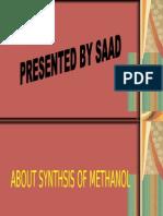 SYNTHEIS OF METHANOL