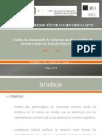 Análise da intensidade de treino em tarefas aeróbias de desenho misto em Natação Pura Desportiva