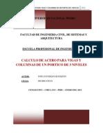 Cálculo de Acero Para Vigas y Columnas de Un Portico de 3 Niveles2012