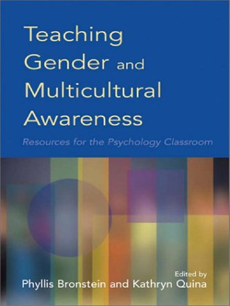 teaching gender and multicultural awareness pdf gender ethnicity