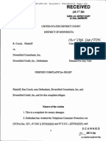 R Couch Diversified Consultants FDCPA TCPA Complaint Minnesota Pro Se