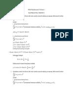 Penyelesaian Tugas Matematika Teknik (2)