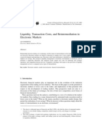 Liquidity, Transaction Costs, And Reintermediation in Electr