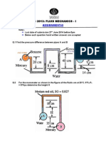Assignment II Fluid Mechanics 1