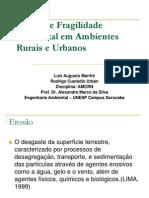 Cartas de Fragilidade Ambiental Em Ambientes Rurais e Urbanos