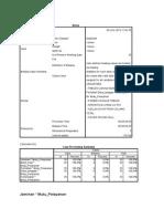 Hasil Analisis Statistik (SPSS)