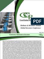 Geoglobal - May 2010 Investor