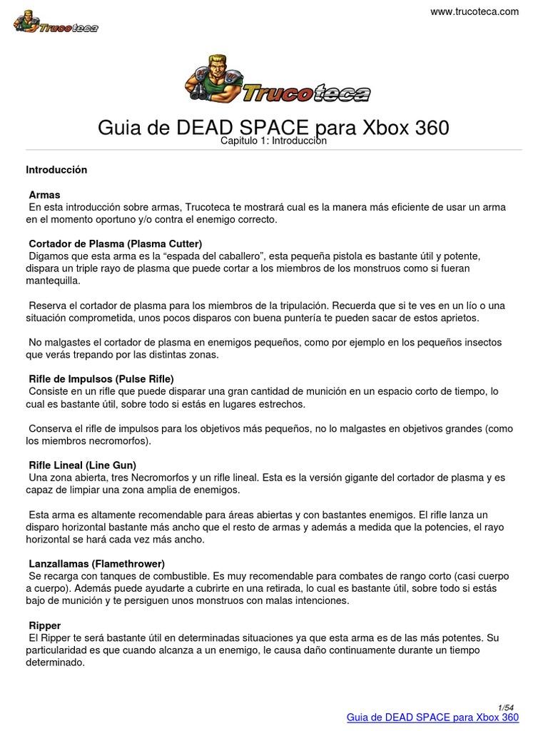 Guia Trucoteca Dead Space Xbox 360