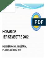 Horarios 1er Sem 2012