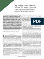 Minimizing Energy Losses Optimal Accommodation and Smart Operation of Renewable Distributed Generation
