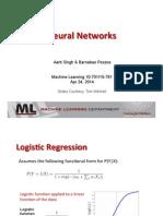 Neural Networks - Slides - CMU - Aarti Singh & Barnabas Poczos