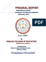 Self Appraisal Report Khalsacollege