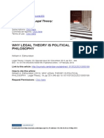 1 Why Legal Theory is Political Philosophy