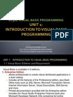 Unit 1 Introduction (VB)