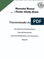 Reglamento Contratacion Docente 2013-I