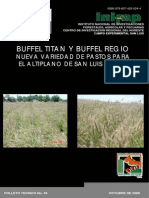 Buffel Titán y Buffel Regio Nva. Variedad de Pastos Para El Altiplano de SLP