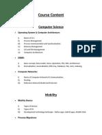 CCSP Course Content