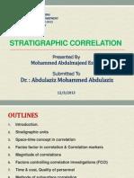 Stratigraphic Correlation