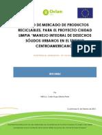 Estudio de Mercado Materiales Reciclables