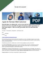 Agent de Turism-Ghid Autorizat