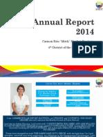 "Annual Report 2014 (Board Member Carmen Rita ""Mitch"" Monfort-Bautista)"
