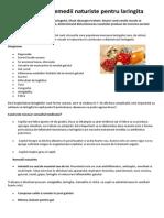 Sanatate - Remedii Naturiste Pt Laringita