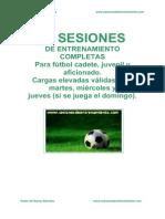20 Sesiones de Entrenamiento Para Fútbol