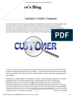 The Plight of a Customer Centric Company _ SocialSteve's Blog