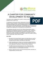 Charter for Community Development in health