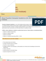 Faustine Computer Academics an ISO 90012008 Certified Institute