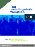 Style and Sociolinguistics