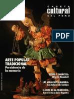 Caceta Cultural Del Perú - Arte Popular Tradicional