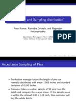 Sampling and Sampling Distrbution