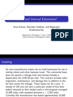 Point Estimation and Confidence Interval