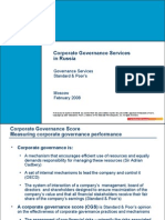 Corporate Governance Services in Russia