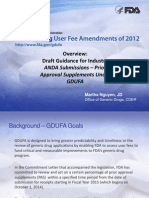 ANDA Submissions – Prior Approval Supplements Under GDUFA