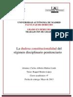 La dudosa constitucionalidad del régimen disciplinario penitenciario.