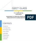 Google Glass Paper Presentation - PROJECT GLASS ODP