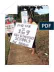 Kauai Hawaii Anti-War Sign Holding Action