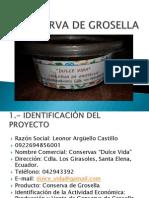 Conserva de Grosella