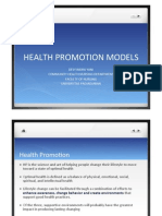 Health Promotion Models