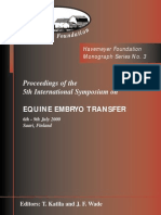 Monograph Series No. 3 - Equine Embriology