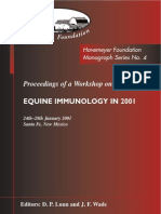 Monograph Series No. 4 - Equine Inmunology