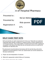 Self-Care Test Kits.ppt of HOSPITAL