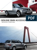 BMW X3 Accessories Brochure Pre 2010