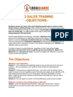 SEO - Sales Training Objections
