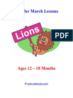 March Lesson Plans For Younger Toddlers