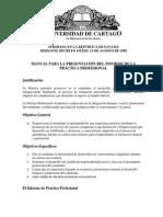 Manual Presentacion Del Informe de Practica Profesional UCA