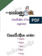 IGCSE Biology - Classification of Organism